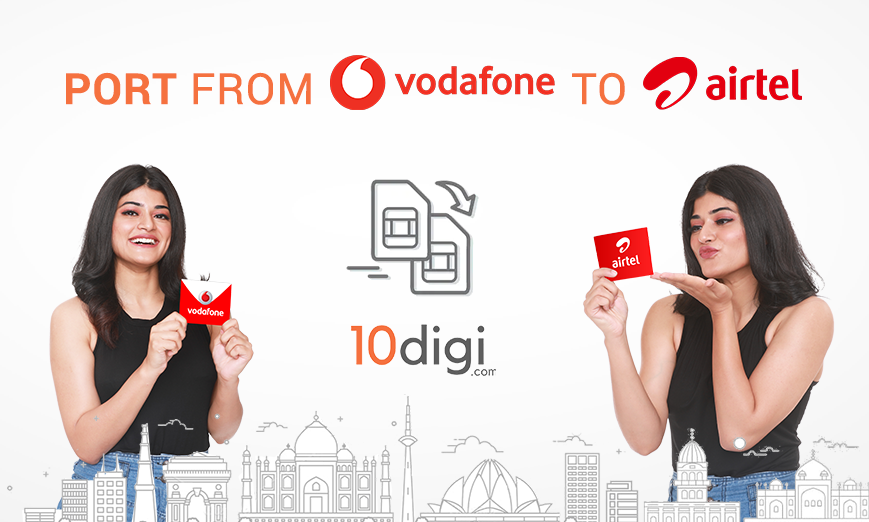 how to port from vodafone to airtel