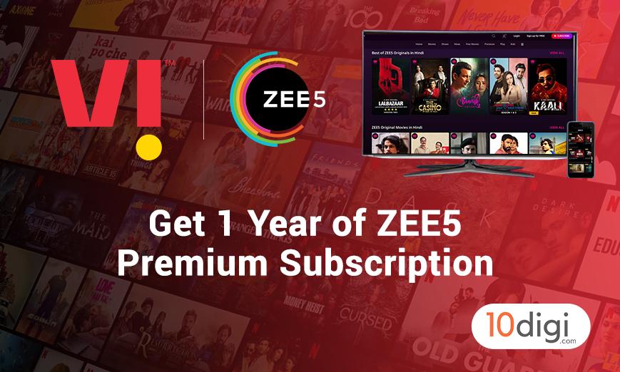 vi zee5 offer - vi zee5 subscription